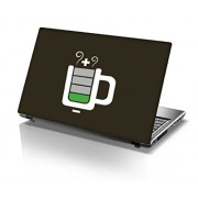 "Snoogg Coffee battery charge Designer Laptop Skin Sticker for 14 to 15"" Laptops"