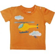Tricou baieti pictat manual, 9-12 luni, Helicopter