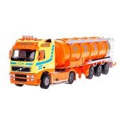 Damara Camión Cisterna Modelo De Vehículo Camiones De Combustible Regalo,Naranja