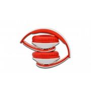 EDNET 83056 :: HEAD BANG слушалки с вграден микрофон, сгъваеми, червено-бели