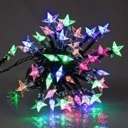 Eminza Ghirlande luminose Stelle Trasparenti LED multicolor