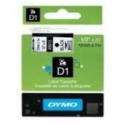 Dymo D1 Label Cassette 12mmx7m (SD45013) - Black on White