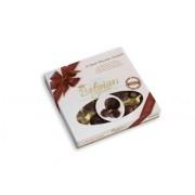 Шоколадови бонбони Belgian 20 Dark Seashells 250 гр - кафява панделка