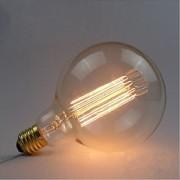 e27 40w edison G125 fio reto grande bulbo lâmpada retro lâmpadas decorativas