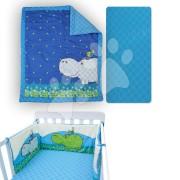 Babaágynemű garnitúra Joy toTs-smarTrike víziló takaró, lepedő és fejvédő 100% pamut szatén kék