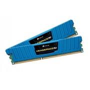 Corsair CML8GX3M2A2133C11B Vengeance Low Profile Memoria per Desktop a Elevate Prestazioni da 8 GB (2x4 GB), DDR3, 2133 MHz, CL11, con Supporto XMP, Blu