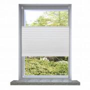 vidaXL Плисирана щора 70 х 125 см, бяла