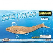 Puzzled Blue Whale Wooden 3D Puzzle Construction Kit