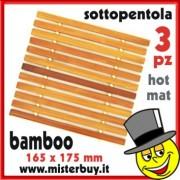 SOTTOPENTOLA BAMBOO SET 3 PEZZI