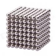 NEJE 3 perles boules magnétiques sphère Cube Puzzle Neocube jouet d'Intelligence - argent (512 PCS)