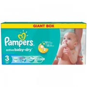 Scutece Pampers Active Baby 3 Giant Pack (108)