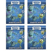 Monsters University Reusable Glow In The Dark Sticker Book Monster Match (4 Pack)