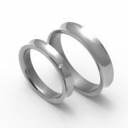 Snubní Titanové prsteny ZERO Collection TTN1501+TTN1503