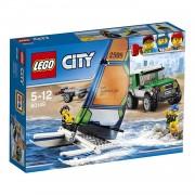 Lego city great vehicles pick up 4 x 4 con catamarano 60149