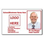 Staff Photo ID Card (Ideal for Schools or Businesses) - Basic Red