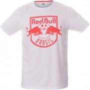 Camiseta Red Bull Brasil Futebol Brasão Rede Branca - M