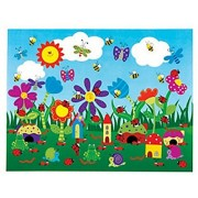 12 Design Your Own! Flower Garden Sticker Scenes - Stationery & Stickers