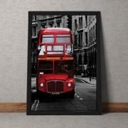 Quadro Decorativo Onibus Ingles 35x25