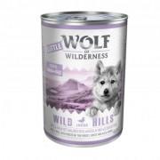 Little Wolf of Wilderness 6 x 400 g Hondenvoer - Wild Hills Junior - Eend & Kalf