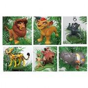 Lion King Lion Guard Christmas Ornament Set - Shatterproof Plastic Ornaments 2 to 4