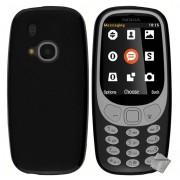 Housse Etui Coque Pochette Silicone Gel Fine Pour Nokia 3310 (2017) + Film Ecran - Noir