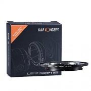 Olympus OM Lente per Canon EOS Camera Body, K&F Concept Adattatore di obiettivo per Canon EOS 1D, 1DS, Mark II, III, IV, 5D, Mark II, 7D, 40D, 50D, 60D, 70D Rebel T2i, T3, T3i, T4i, T5i, SL1
