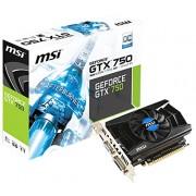MSI Scheda Grafica GeForce GTX 750 (N750 1GD5/OCV1), 1024MB GDDR5, Nero