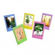 Sunmns Desk Photo Frame for Fujifilm Instax mini 8/ 8+/ 70/ 7s/ 90/ 25/ 50s Film, 5 Piece