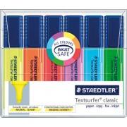 Textmarker Set 6 culori, varf lat, corp lat, 364, Staedtler [B]