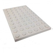 Lego Parts: Plate 6 x 10 (White)