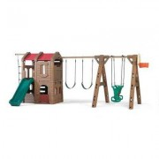 "Step2 88.5"""" x 201"""" Adventure Lodge Play Center Swing Set 801400"