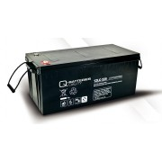 Batería de plomo AGM cíclica 12v 243Ah 12LC-225 Q-Batteries