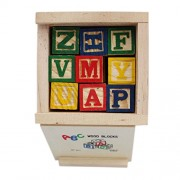 Tootpado Alphabet & Number Non-Toxic Wooden Abcd And 1234 Building Blocks(27Wood Blocks, Block 2Cm)