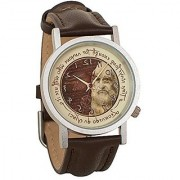 Leonardo da Vinci Backwards Unisex Analog Water Resistant Novelty Gift Watch