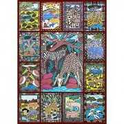 African Animals Jigsaw Puzzle - 1000 Piece - Bright Colorful Puzzle featuring Wild Animals & Zimbabwe Wall Art by Hennessy Puzzles - Portion of Proceeds Supports Zimbabwean Artists - Made in USA