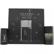 Azzaro Pour Homme Night Time Комплект (EDT 50ml + Deo Stick 75ml) за Мъже