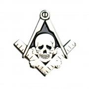 Pin Masonic skull head