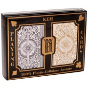 US Playing Card Co. KEM - Carte da poker Arrow Black e Gold Wide Jumbo Index