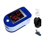 oxímetro de pulso y monitor de ritmo cardíaco de dedo, correa y estuche - azul oscuro [ARTUROLUDWIG]