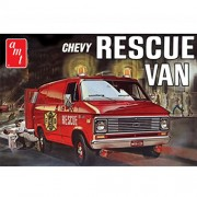 "AMT plastica in scala 1:25 ""1975 Chevy"" Van Rescue Kit Model (Red)"