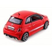 Fiat 500 Abarth, Red - Bburago 22111 - 1/24 scale Diecast Model Toy Car