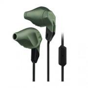 JBL Grip 200 - спортни слушалки с микрофон за iPhone, iPod, iPad и мобилни устройства (тъмнозелен)