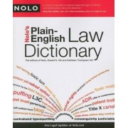 Nolo's Plain-English Law Dictionary by Gerald Hill