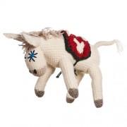 Bia, asino da collezione in lana fatto a mano