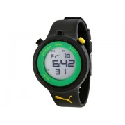 PUMA Go Grey Digital Black Silicone Men's Watch Grey