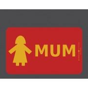 """Planchette pour Petit déjeuner """"Mum"""""""