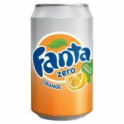 Coca Cola Company Fanta Orange 330ml - ZERO sugar