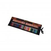 Portalápices de tipo estuche - Canvas Pencil Wrap , organizador para 36 lápices - Negro