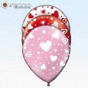 Balões com Corações (Pack 8)