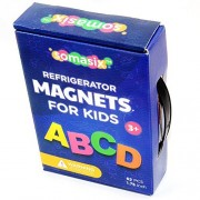 Magnetic Letters And Numbers: Alphabet Refrigerator Magnets For Kids With Durable Magnet (62 Piece)